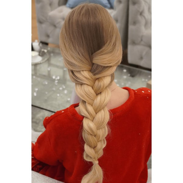 gyönyörű fonott balayage haj