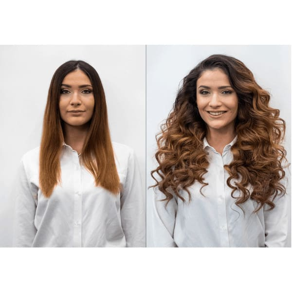 előtte és utána kép, haj nélkül és hajjal