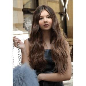 Világosbarna #8 - Barbara - Damilos Póthaj - Angel Hair (51 cm/140 gramm)