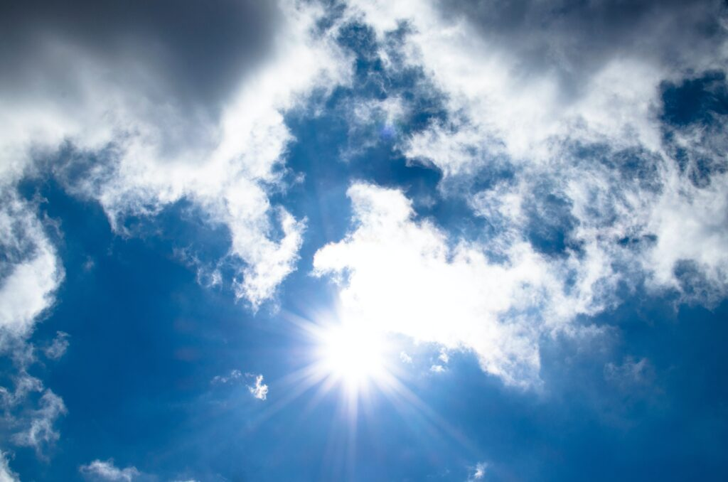 blue sky, summer sun