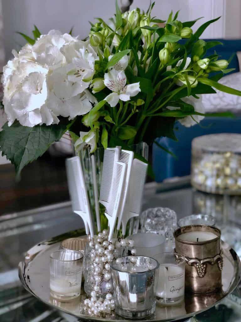 Ashlynn Braid fishtail comb with decorative table