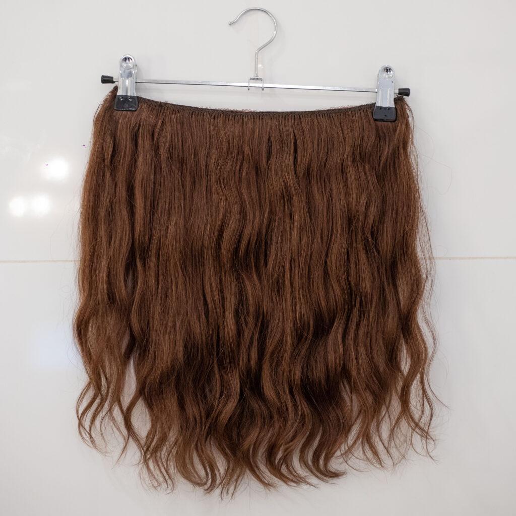 air dried brown hair extension