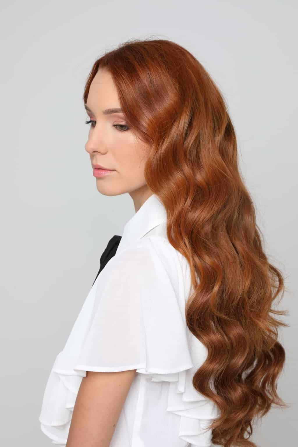 gyönyörű hullámos haj