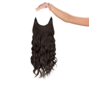 Puha Fekete #1B - Dita - Damilos Póthaj - Angel Hair (51 cm/140 gramm)