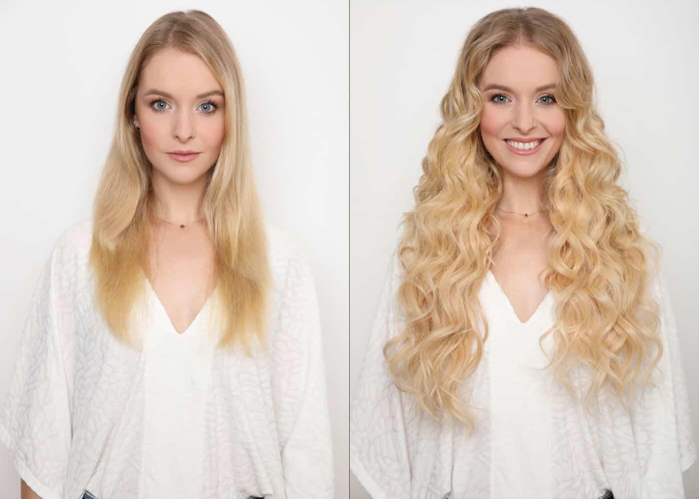 előtte és utána kép, Ashlynn Braid Haj nélkül és hajjal