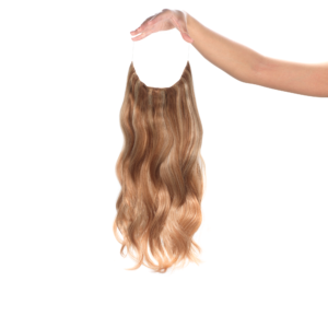 Sötétszőke Aranyszőke Melírokkal #17/24 - Jennifer - Damilos Póthaj - Angel Hair (51 cm/140 gramm)